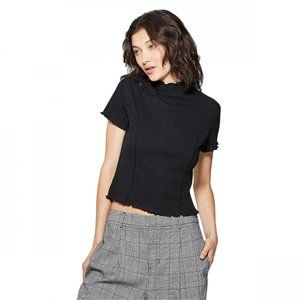 NWT Wild Fable Mock Turtleneck T-Shirt Small Black